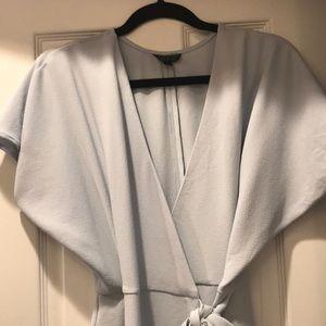 Top Shop Light Blue Wrap Dress Size 6